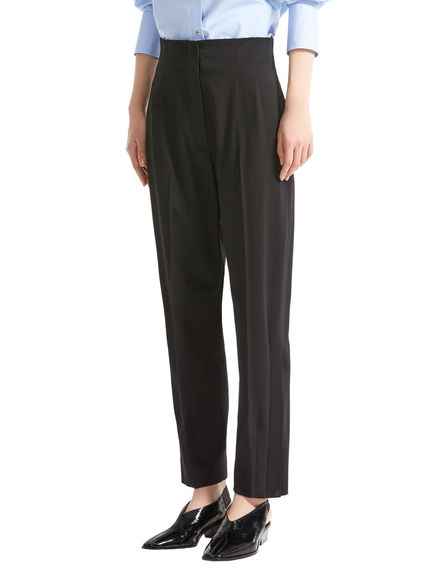 Tailored Carrot Leg Wool Trousers