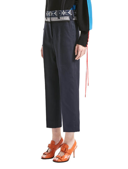Nordic Waist Cropped Trousers