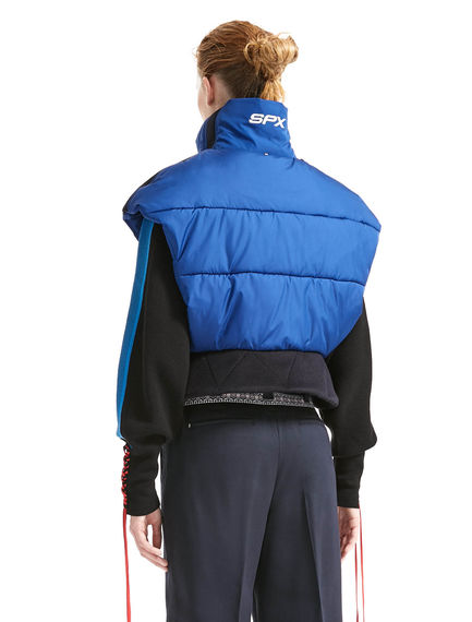 Directional Cropped & Padded Gilet