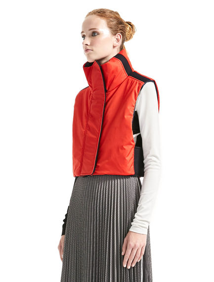 Colour-block Padded Gilet