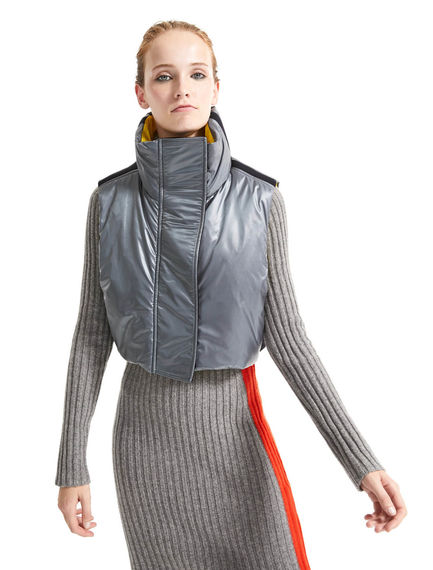 Contrast Texture Cropped & Padded Gilet Sportmax