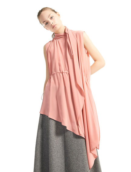 Top in seta asimmetrico con coulisse Sportmax