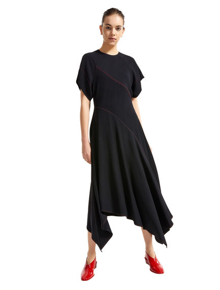 Contrast Stitch Asymmetric Dress Sportmax