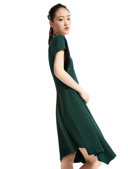 Short Contrast Stitch Asymmetric Dress Sportmax
