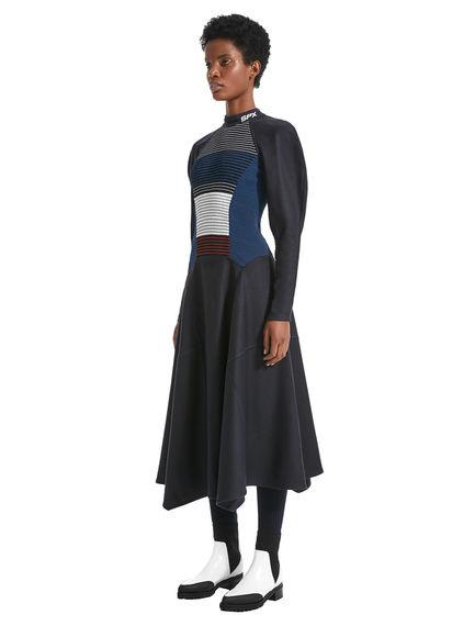 Dynamic Raglan Sleeve Dress