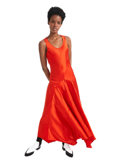 Sleeveless Satin Maxi Dress Sportmax