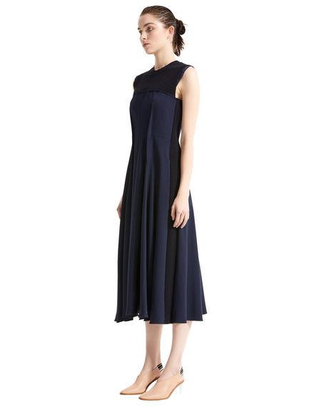 Layered Bustier Wool Dress