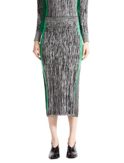 Two-tone Mohair & Viscose Tube Skirt