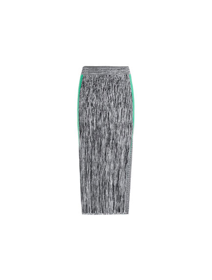Two-tone Mohair & Viscose Tube Skirt