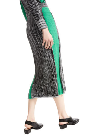 Two-tone Mohair & Viscose Tube Skirt Sportmax