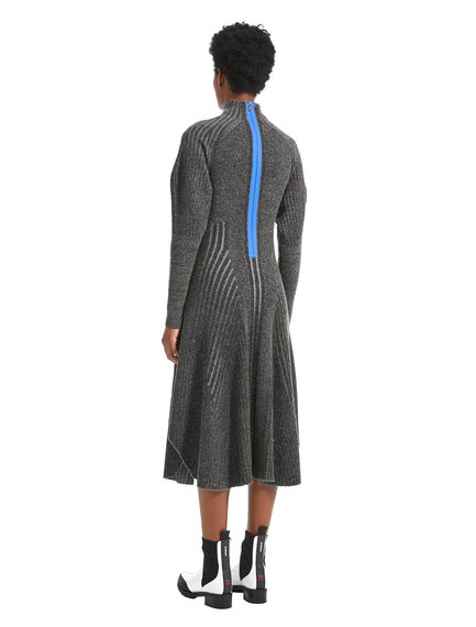 Geometric Knitted Dress
