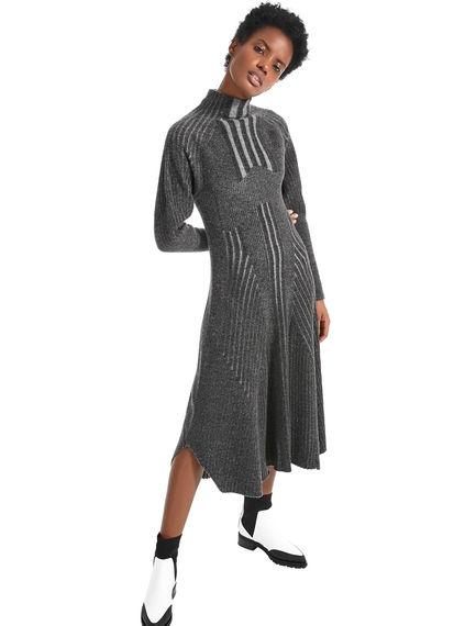 Abito in lana vanisé con spalle voluminose Sportmax