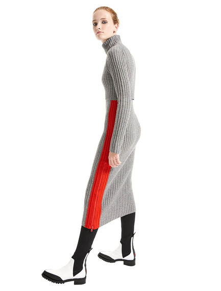 Zip Side Cashmere Knit Dress Sportmax