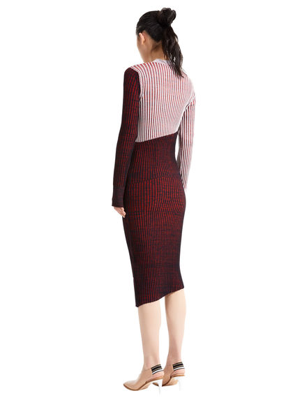Graphic Rib Knit Dress