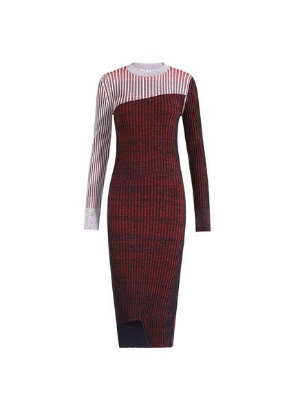 Graphic Rib Knit Dress