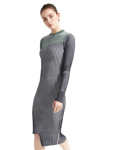 Graphic Rib Knit Dress Sportmax