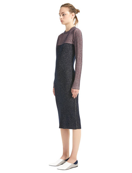 Fitted Lurex & Wool Dress