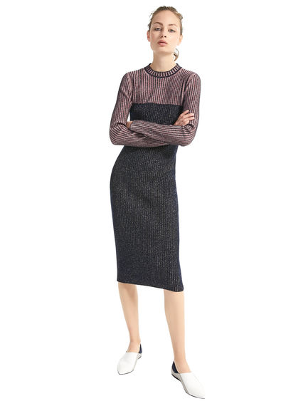 Fitted Lurex & Wool Dress Sportmax