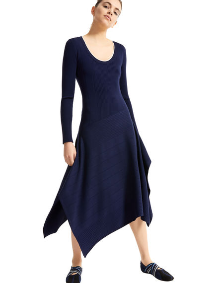 Handkerchief Skirt Knitted Dress Sportmax