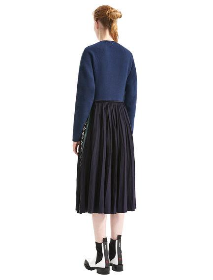 Fil Coupé & Nordic Knit Dress