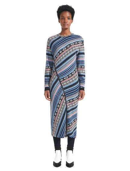 Nordic Pattern Sweater Dress