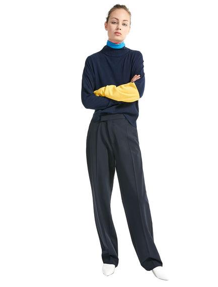 Colour-block Oversize Sweater