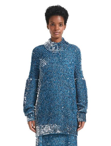 Lustrous Sequin Sweater