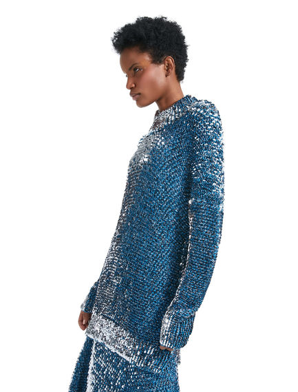 Maglia in lana mélange con paillette all-over Sportmax