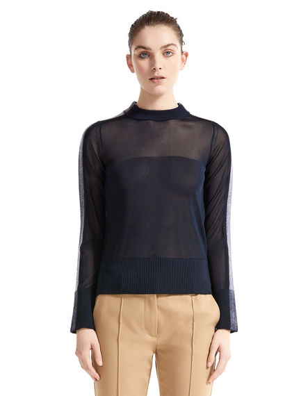 Semi-sheer Needle Punch Sweater