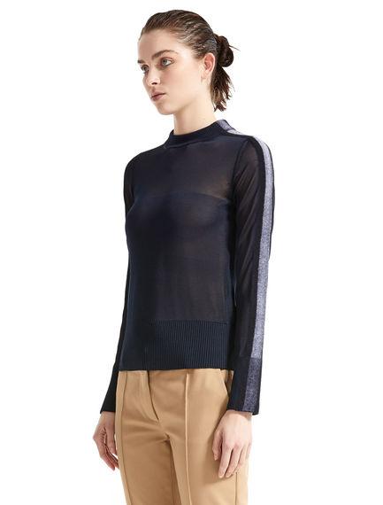 Semi-sheer Needle Punch Sweater