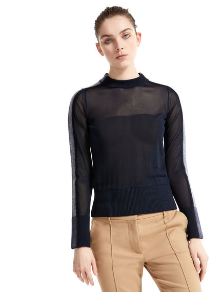Semi-sheer Needle Punch Sweater Sportmax