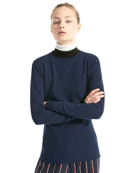 Contrast Neck Fitted Sweater Sportmax