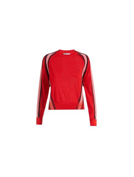 Needle-punch Stripe Viscose Sweater