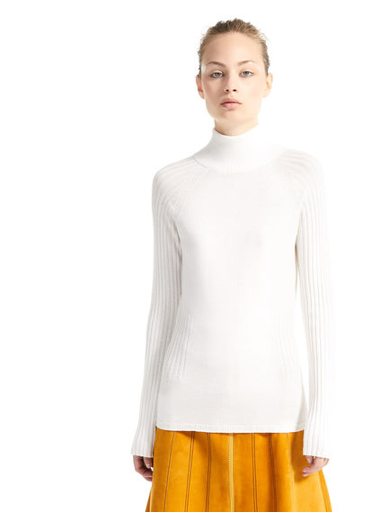 Sculptural Stretch Wool Turtleneck Sportmax