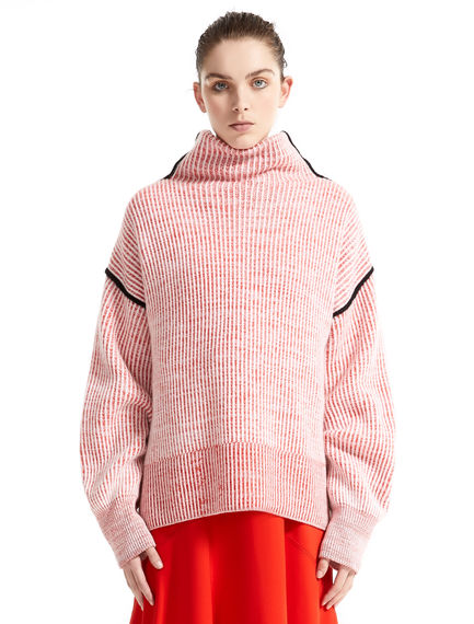 Funnel Neck Chunky Cashmere Sweater