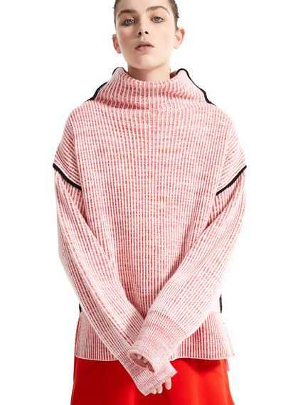 Funnel Neck Chunky Cashmere Sweater Sportmax