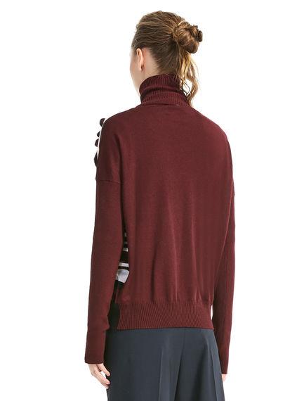 Lurex & Wool Ruched Sweater