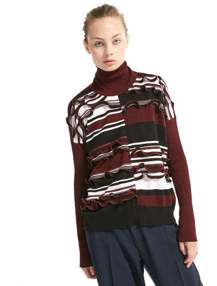 Lurex & Wool Ruched Sweater Sportmax