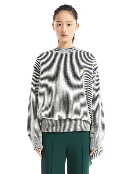 Deconstructed Chunky Cashmere Sweater