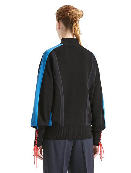 Laced Cuff Sweater