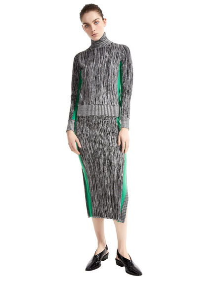 Two-tone Mohair & Viscose Sweater
