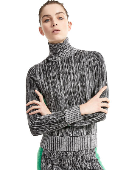 Two-tone Mohair & Viscose Sweater Sportmax