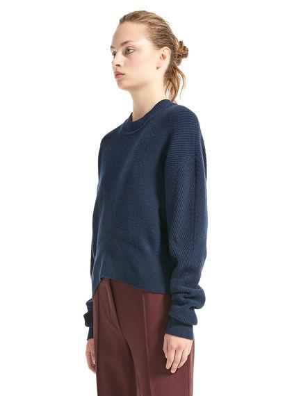 Sculpted Angora Rib Sweater