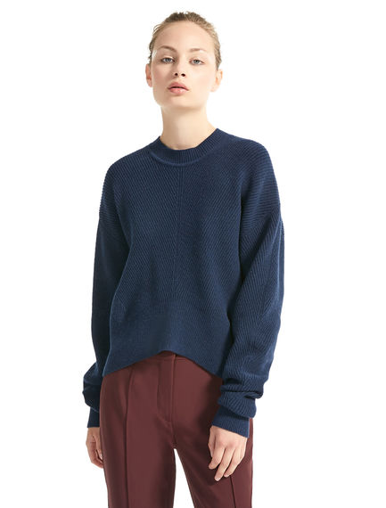 Sculpted Angora Rib Sweater Sportmax