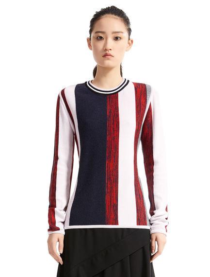 Striped Wool & Viscose Sweater