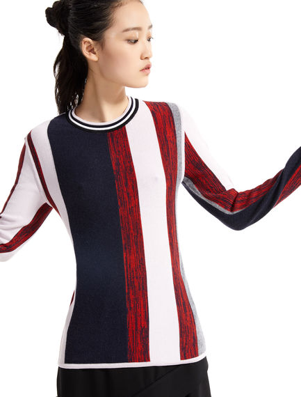 Striped Wool & Viscose Sweater Sportmax
