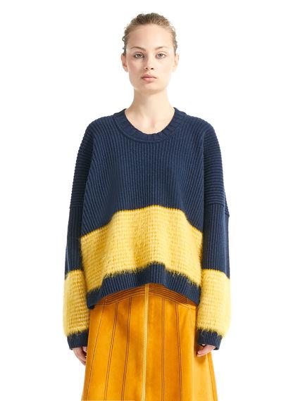 Block Stripe Mohair & Wool Sweater