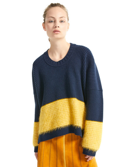 Block Stripe Mohair & Wool Sweater Sportmax