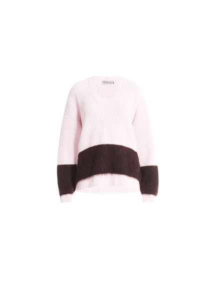 Block Stripe Mohair & Wool Sweater