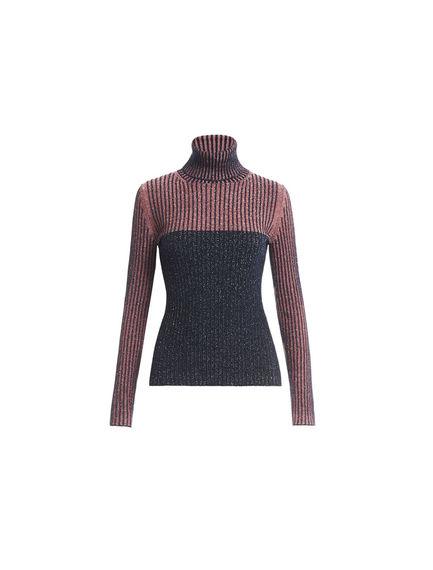 Lurex & Wool Polo-neck Sweater